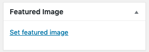 Upload featured image to WordPress blog post